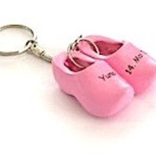 Birth clog on a key ring
