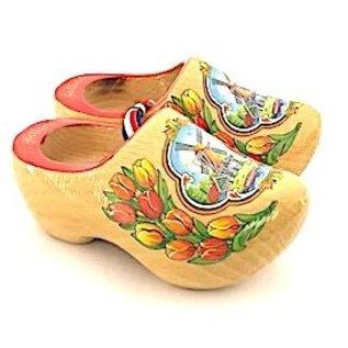 gelakte souvenirs klompjes 14 cm met tulp