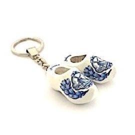 Schlüsselring 2 Clogs 4 cm weiß