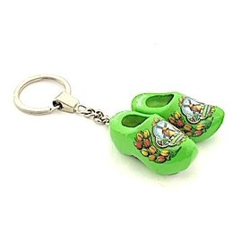Green clogs on a key ring