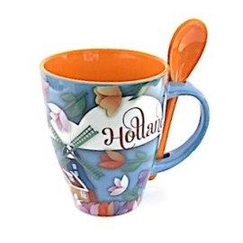 Tasse mit Löffel Holland groß