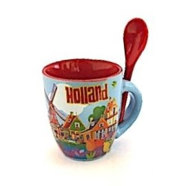 Tasse mit Löffel Holland klein