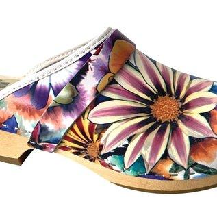 Dames schoenklomp bloemen