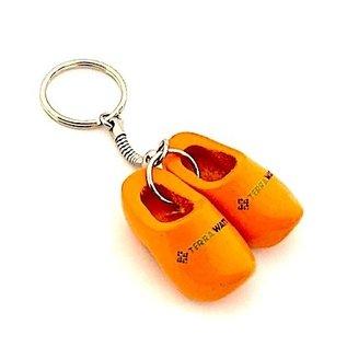 sleutelhanger met 2 klompjes met LOGO