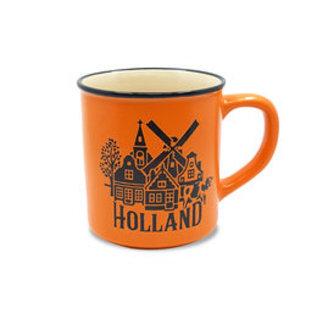 Oranje mok tulpen Holland