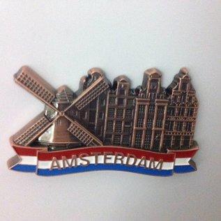 Magneet Amsterdam grachten brons