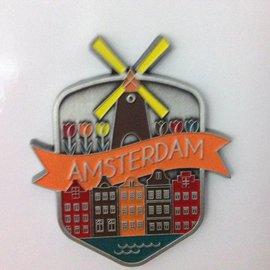 Magneet Amsterdam grachten metaal
