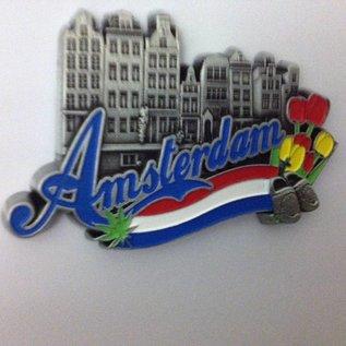 Magneet Amsterdam herenhuis metaal