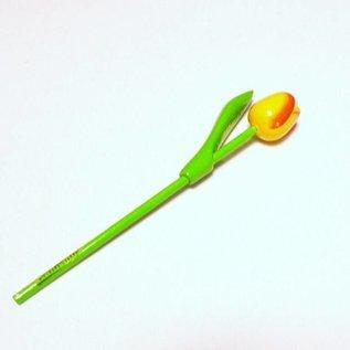 houten tulpen in de kleur geel 20cm