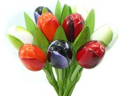 Houten tulpen 34 cm