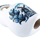 Clog tie 6cm with delft blue windmill