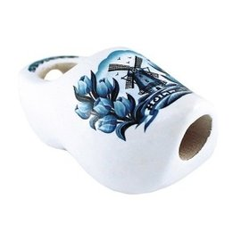 Clog tie 8 cm with delft blue windmill
