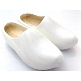 White children's wooden shoes