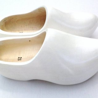 Wooden clogs white
