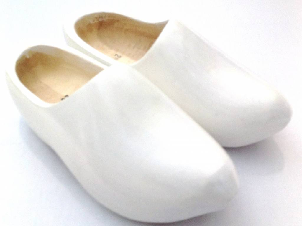 b89d593d69661 Dutch wooden clogs in the color white - The Dutch clog store