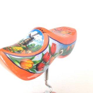 Orange Clogs Korkenzieher