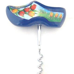 Blue clog corkscrew
