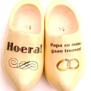 Hochzeit Holzschuhe