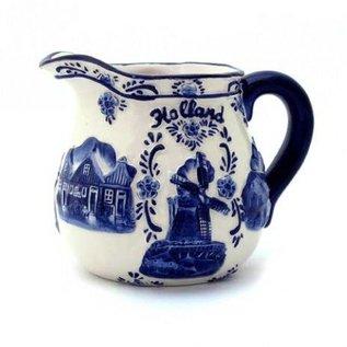melkkan delftsblauw | Originele Delfts Blauwe melkkan met Hollandse afbeelding