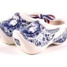 pair of clogs delft blue