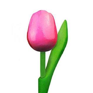 Tulpen aus Holz rosa 20cm