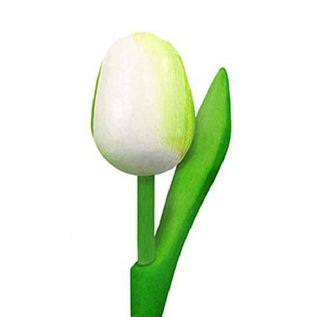 houten tulpen in de kleur wit 20cm