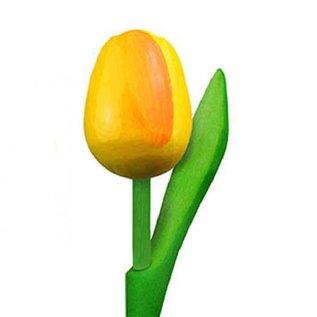 wooden tulips yellow 20cm