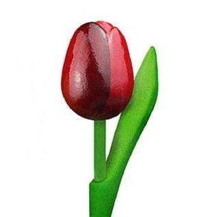rode houten tulp