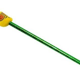 Potlood met een klompjes in de kleur geel