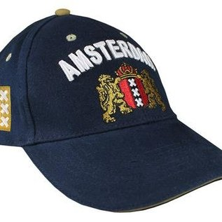 Dutch cap in the color blue with the Amsterdam weapon