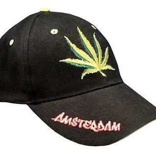 Cap met een afbeelding van weed