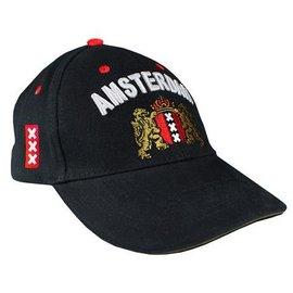 zwarte cap met Amsterdam Wapen