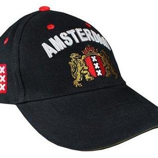 Kappe in der Farbe Schwarz mit dem Amsterdam Waffe