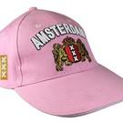 rosa Kappen mit dem Amsterdam Waffe