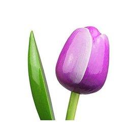 Houten tulpen in de kleur paars 34cm