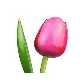 Holztulpen in der Farbe Rose