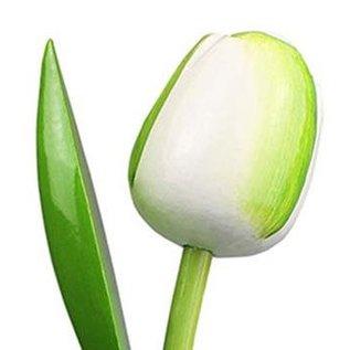 houten tulpen in de kleur wit