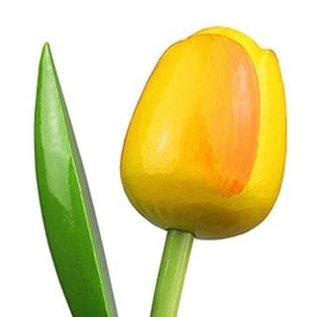 gele houten tulpen