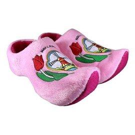 klomppantoffel hollandse molen roze