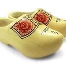 Dutch lacquered farmer children wooden shoes