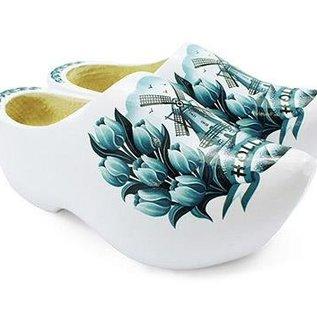 Delft blue wooden shoes