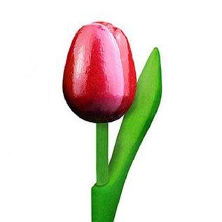 Tulpen aus Holz Rot/Weiß 20cm