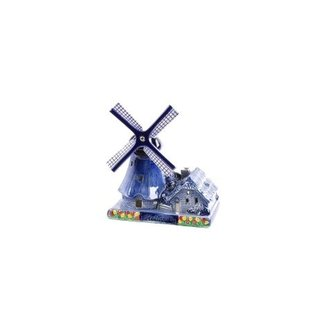 Dutch windmill with candle