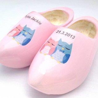 geboorteklompjes met foto of tekst