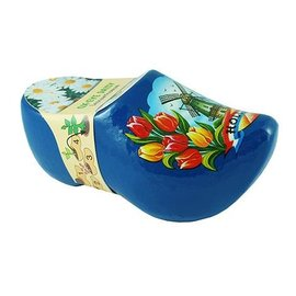 Clogs with flowers blue