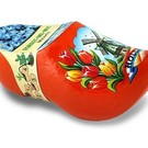 Clogs with flowers orange
