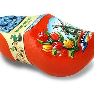 klompje met bloemetjes oranje