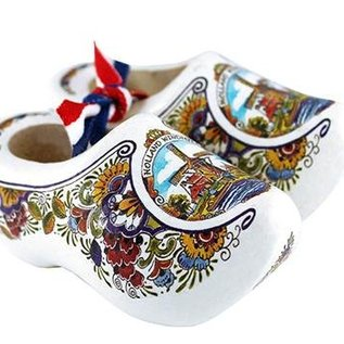 souvenirs wooden shoes poly windmill 8cm