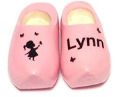 Birth wooden shoes - maternity presents