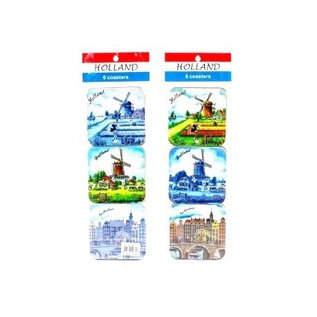 coasters Dutch windmill Delftblue